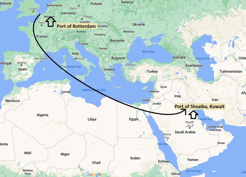 CMA CGM voyage Route