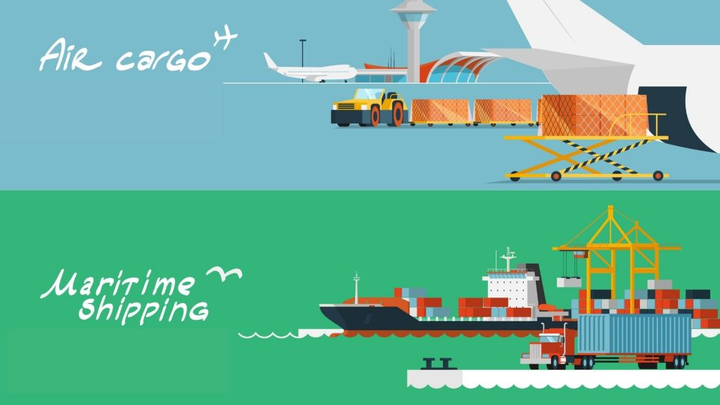 choosing between air freight and sea freight